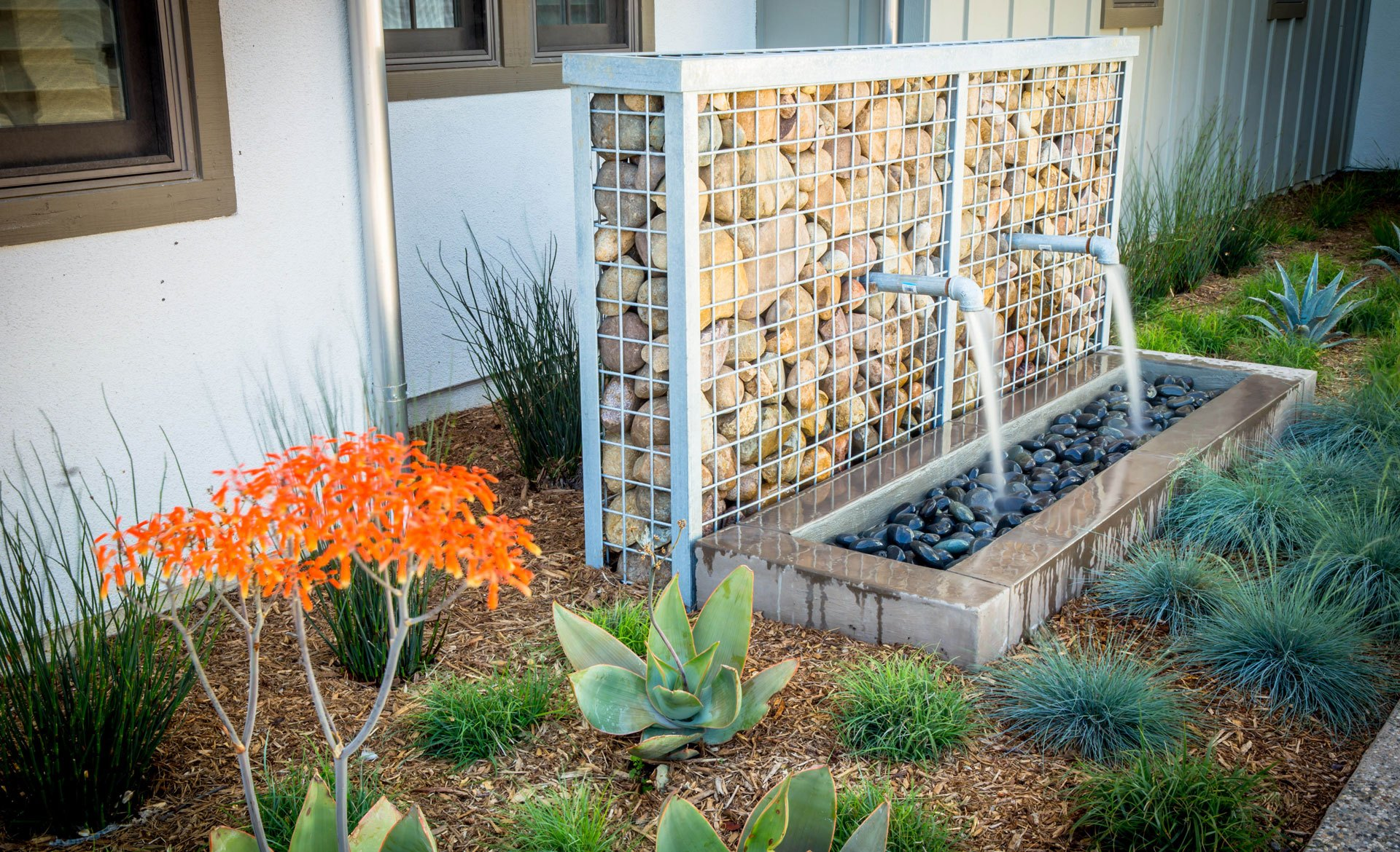 Fire Pit Outdoor Water Features Backyard Design Hardscaping In San Diego