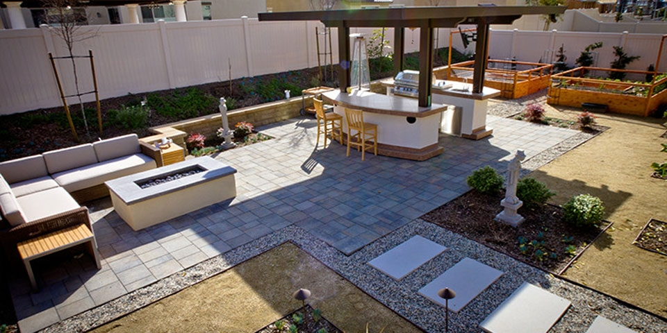 Creative Use Of Pavers With Backyard Design Ideas
